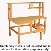 Childs wooden computer desk for one, ages 5 - 10 - maple