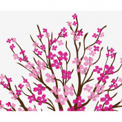 Large Wall Tree Nursery Decal Dogwood Magnolia Cherry Blossom Flowers #1116