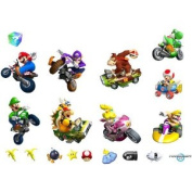 Party Destination 191950 Mario Kart Wii Removable Wall Decorations