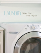Laundry Wash, Dry, Fold, and Repeat Quote Wall Sticker