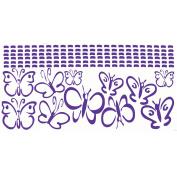 Purple Girls Room Wall Vinyl Butterflies Decal Sticker 11 Pc 13cm .