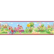 Strawberry Shortcake Wall Border - Peel and Stick Wallpaper Border