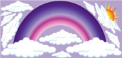 Purple Rainbow Wall Stickers / Decals