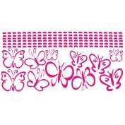 Hot Pink Girls Room Wall Vinyl Butterflies Decal Sticker 11 Pc 13cm .