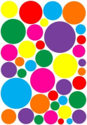 Multicoloured Random Sized Dot Wall Stickers Decals
