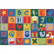 Carpets For Kids 3801 Toddler Alphabet Blocks 1.2m x 0m x 1.2m x 0m Rectangle Carpet