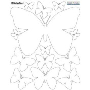 White Butterfly Wall Decals (13) Peel & Stick Removable Beautiful Butterfly Wall Decals