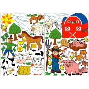 Farm Animals Wall Stickers, Wall Decals, Graphics