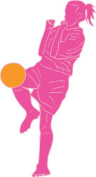 Pink Soccer Girl Wall Decal Stickers