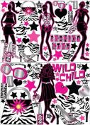 Zebra Print Fashion Model Wall Decals / Stickers set