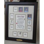 Personalised School Days Years Photo Picture Mat and Frame 11x14 Taupe