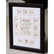 School Days Years Photo Picture Mat with Cherry Frame 11x14 Girl