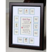 School Days Years Photo Picture Mat with Cherry Frame 11x14 Blue
