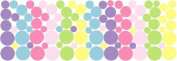 96 Baby Shades Pastel Dot Wall Stickers Decals