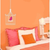 Bird in Cage Vinyl Wall Decal