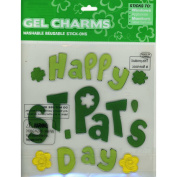 Happy St. Pat's Day St Patrick's Day Gel Window Clings Charms Stick-ons