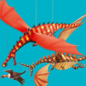 Djeco / Hanging Paper Decor, Merciless Dragons