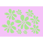 Key Lime Girl's Wall Flower Decal 9 Lg Floral Stickers