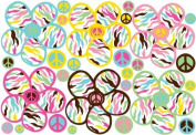 Multicoloured Daisy Peace Wall Decals / Stickers / Decor