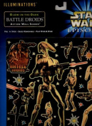 Star Wars Episode 1 Illuminations Glow-in-the-dark Battle Droids Action Wall Scene