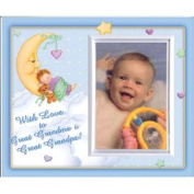 With Love toGreat Grandma & Great Grandpa -Boy (MoonBaby) - Picture Frame Gift