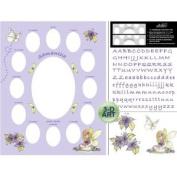 Baby Lavender Fairy Photo Mat 11 X 14
