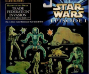 Star Wars Episode 1 Illuminations Glow-in-the-dark Trade Federation Invasion Action Wall Scene