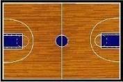 LA Rug Fun Time Basketball Court GI 10 3958 100cm by 150cm Childrens Area Rug