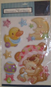 Duck, Moon, Stars Baby Pop-up Decorative Wall Decals