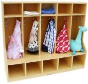 A+ Childsupply Toddler 5 section Coat Locker