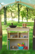 Camden Rose A Simple Bookcase, Curly Maple w/Walnut Accents, Two Shelves
