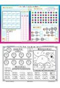 First Grade Math Placemat by Tot Talk