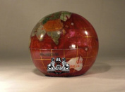 Unique Art 7.6cm Amberlite Pearl Swirl Ocean Gemstone World Globe Paper Weight