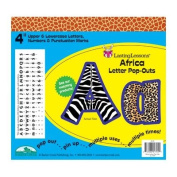 Barker Creek& Lasting Lessons LAS1704 Africa Letter Pop-Outs
