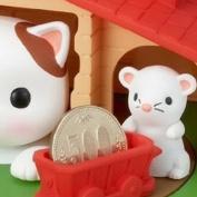 Sutakora Cute Cat Mouse Coin Money Bank Kid Children Toy