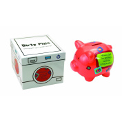 Manual Woodworkers and Weavers Dirty Pig Piggy Bank Red Warning