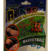 Googly Bands Shaped Rubber Bands - Basketball