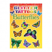 Dover 466742 Dover Publications-Glitter Tattoos Butterflies