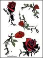 Barbed Flowers Temporaray Tattoo