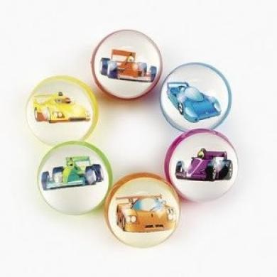 Race Car Bouncing Balls (1 dozen) - Bulk [Toy]