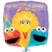 Costumes 205024 Sesame 1st Birthday Foil Balloon