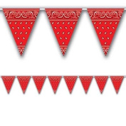 Bandana Pennant Banner Party Accessory (1 count)