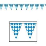 Beistle - 50970 - Oktoberfest Pennant Banner- Pack of 12