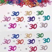Beistle CN028 30 and Stars Confetti - Pack of 6