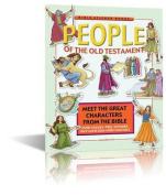 People of the Old Testament Bible Story Book for Children - Bible Games - Bible Sticker Book with reusable stickers - Paperback