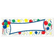 Beistle 57637 Balloons Blank Sign Banner