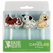 6 pc Puppy Dog Cake Candles