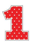 Creative Converting 220973 No. 1 Red Polka Dot Candle