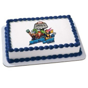 Marvel Super Hero Squad - Teamwork Edible Icing Cake Topper Party Supplies