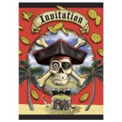 Invitation & Envelope Kit - 8PK/Pirates Bounty
